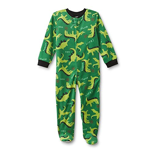 Joe Boxer Infant & Toddler Boys' Footed Sleeper Pajamas - Dinosaur 18 Months