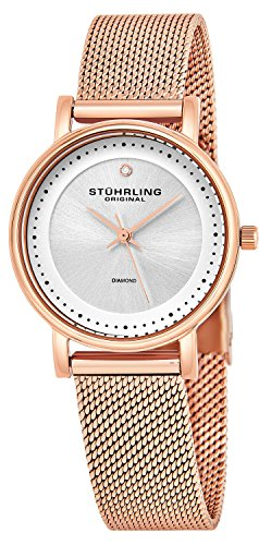 Stuhrling Original Women's 734LM.05 Ascot Casatorra Elite Analog Swiss Quartz Rose Gold-Tone Stainless Steel Watch