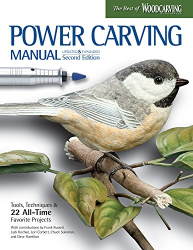 Power Carving Manual, Second Edition: Tools, Techniques, and 22 All-Time Favorite Projects (Fox Chapel Publishing) Step-by-Step Projects and Photos, Buyer's Guide, Expert Information, and Inspiration (Wood Carving With Power Tools)