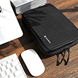 tomtoc Electronics Organizer Travel Cable Organizer Accessories Case Pouch Bag for Cable, Charger, Power Bank, Hard Drive, USB Hub, USB Flash Drive, SD Card, Phone, Black