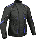 GearX Surfer Motorbike Jacket Waterproof Breathable Padded Back & Elbow, L