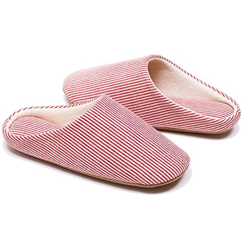 Kook Club Men's Women's Slipper for 2017 Spring and Summer Waterproof Sole Red Small One Pair