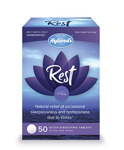 Hylands Rest, Natural Relief of Sleeplessness and Restlessness Due to Stress, 50 Quick-Dissolving Tablets