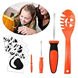 Halloween Pumpkin Carving Kit Kids MerryMore 4 Halloween Pumpkin Carving Tools & 8 Free Halloween Carving Stencils Templates