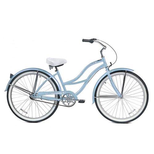 Micargi Tahiti NX3 Beach Cruiser Bike, Baby Blue, 26 Inch