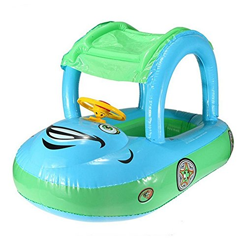 Car Swim Float Seat Boat Pool Ring with Canopy