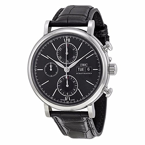 - IWC Men's Swiss Automatic Watch with Stainless Steel Strap, Black (Model: IW391008)