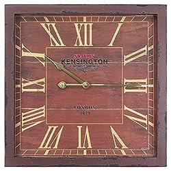 Yosemite Home Decor Square Wooden Wall Clock, Multi