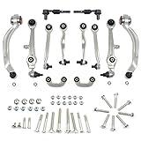 A-Premium Suspension Control Arm Kit Ball Joint Tie Rod Sway Bar Link for Audi A4 A4 Quattro A6 Quattro S4 1996-2001 Volkswagen Passat 1998-2002 13-PC Set