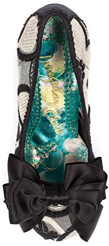 Irregular Choice Ascot Schwarz Gold Damen Heels Court Schuhe