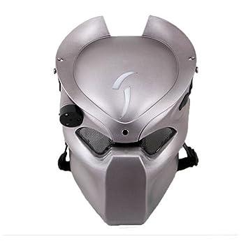 Táctico de Protección Paintball Airsoft Metal malla y Predator CS campo lámpara de infrarrojos, Full