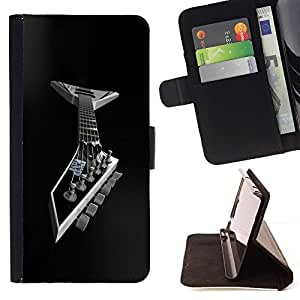 For Sony Xperia M4 Aqua Case , Guitarra del metal- la tarjeta de Crédito Slots PU Funda de cuero Monedero caso cubierta de piel