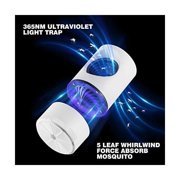 Ulikey Luce Mosquito Killer, USB Alimentato Mosquito Killer Luce, UV LED Zanzariera Lampada Antizanzare per Cortile… 3 spesavip