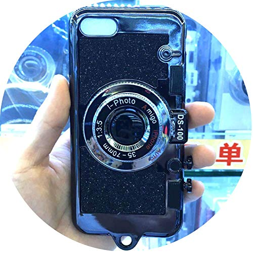 spyman 2019 Gifts Necklace Case iPhone 7 8 6s Plus X Bling Glitter Phone Cases Coque iPhone 6Plus 7Plus 8Plus,Pink 7Plus -