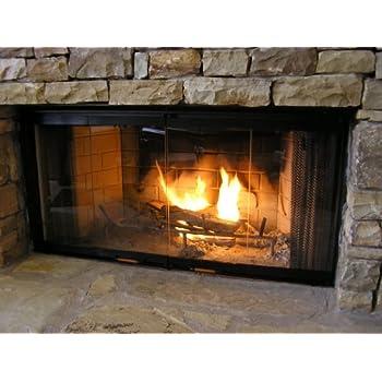 heatilator fireplace doors black 36 series glass doors dm1036 home kitchen. Black Bedroom Furniture Sets. Home Design Ideas