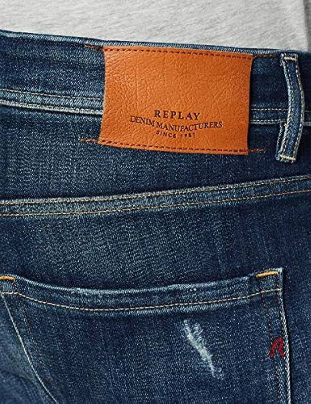 Replay Męskie Straight Jeans: Odzież