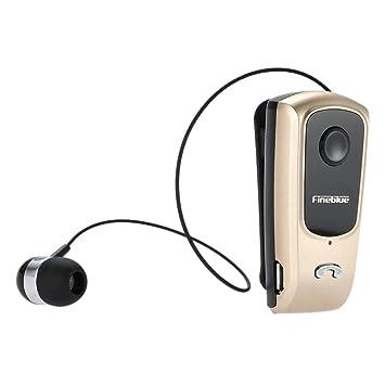 elecfan Auriculares Samsung, Sonido Estéreo, Oro,Inalámbricos con Mic, Auricular Calls Remind