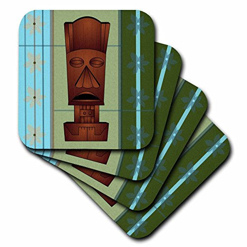 3dRose cst_77493_3 Wood Grain Tropical Tiki