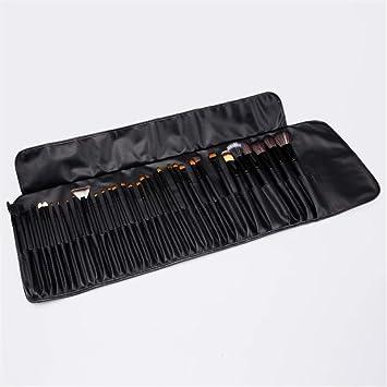 DDFHK Set de brocha para maquillaje 35 Set Brush Black Maquillaje completo Pincel de sombra de ojos Brocha para cejas: Amazon.es: Belleza