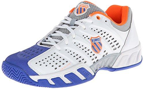 K-Swiss Bigshot Light Tennisschuh Herren, weiß - blau - orange, 42 EU