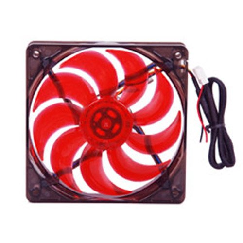MASSCOOL 120mm Red LED Cooling Fan BLD-12025V1R - Labor Saving Devices Inc
