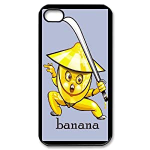 Fanny Banana Image On Back Phone Case For iPhone 4,4S