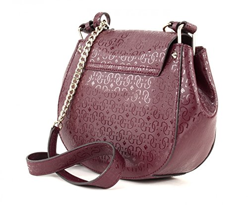 GUESS Marian Crossbody Saddle Bag Bordeaux