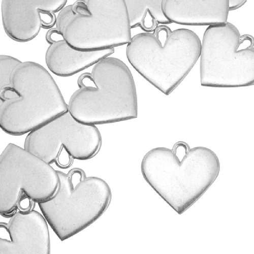 "ImpressArt, Pewter Stamping Blanks, Heart, 3/4"" - 24 pc."