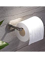 YIGII Adhesive Toilet Paper Holder - MST001 Self Adhesive Toilet Roll Holder for Bathroom Kitchen Stick on Wall Stainless Steel Brushed