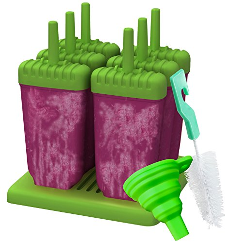 Ozera Reusable Popsicle Molds Ice Pop Molds Maker, Set of 6, Green