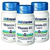Cheap Life Extension Vitamin D3 5,000 IU 60 Softgels – 3-Pak