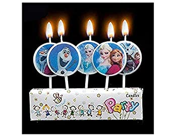 IndoClassy Frozen Anna And Elsa 5 Pieces Kids Birthday Candles