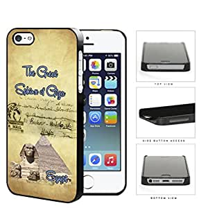 Egyptian Postcard Great Sphinx of Giza Hard Plastic Snap On Cell Phone Case Apple iPhone 5 5s