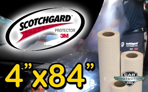 (3M Clear Bra Scotchgard Paint Protection Bulk Film Roll 4-by-84-inches)