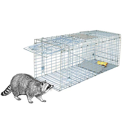 HomGarden Live Animal Trap Catch Release Humane Rodent Cage for Rabbits, Groundhog, Stray Cat, Squirrel, Raccoon, Mole, Gopher, Chicken, Opossum & Chipmunks Nuisance Rodents