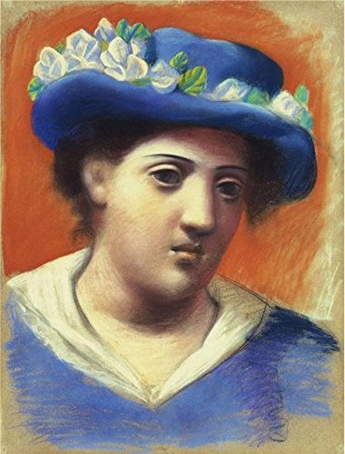 Oil Painting 'Pablo Picasso-Woman With Flowered Hat,1921' Printing On High Quality Polyster Canvas , 30x39 Inch / 76x100 Cm ,the Best Gym Artwork And Home Artwork And Gifts Is This (Bumblebee Female Classic Costumes)