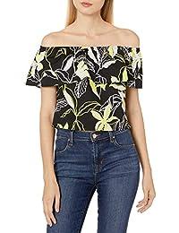 Women's Tropical Floral Off the Shoulder Top