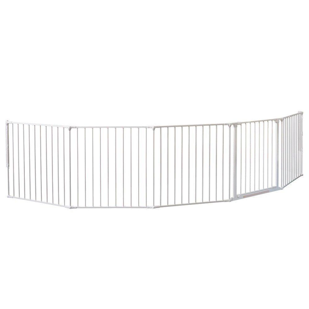 BabyDan XXL Barrière flexible pour protection de foyer cheminée Blanc