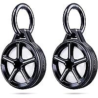 [2 Pack] Ztotops Case met sleutelhanger voor AirTag Key Finder, Wheel Style Houder, Uitgebreide bescherming, Sterk en…