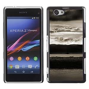 Be Good Phone Accessory // Dura Cáscara cubierta Protectora Caso Carcasa Funda de Protección para Sony Xperia Z1 Compact D5503 // Abstract Landscape