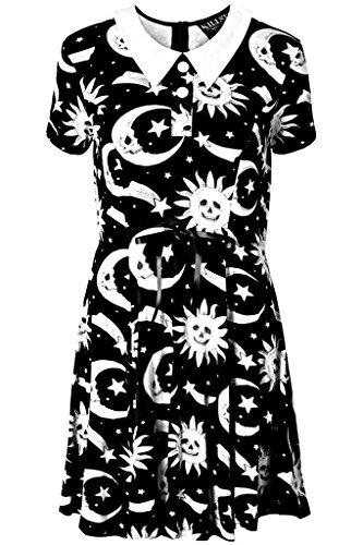 Killstar Cozmic Doll School Girl Lolita Goth Wicca Occult Dress (XL)