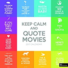 TF PUBLISHING 2017 Keep Calm and Quote Movies Wall Calendar