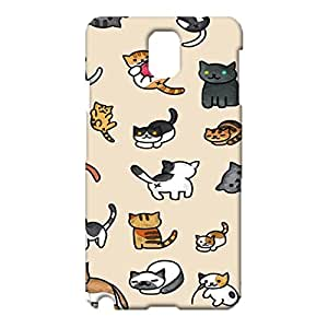 Samsung Galaxy Note 3 N9005 Pet Cat 3D Phone Cover,Cute Popular Painted Cat Pattern Exquisite Hard Case Snap on Samsung Galaxy Note 3 N9005