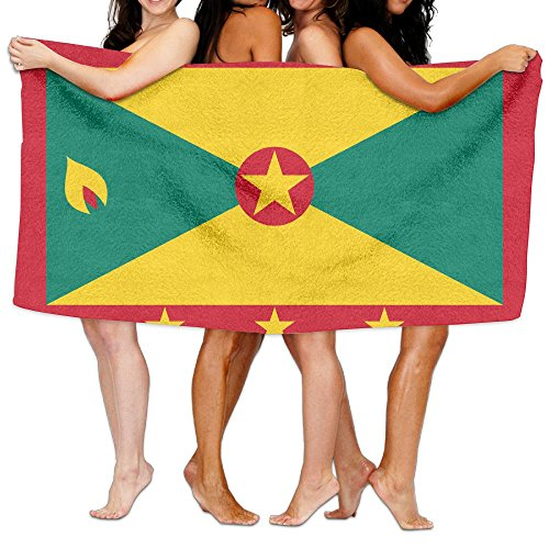 Grenada Flag Bath Towels Bath Sheets, Beach Hand Turkish Towel, Large Absorbent Washcloths Facecloth Towel Set For Home & Spa Collection Use (31.551.2inches) (Sheet Grenada)