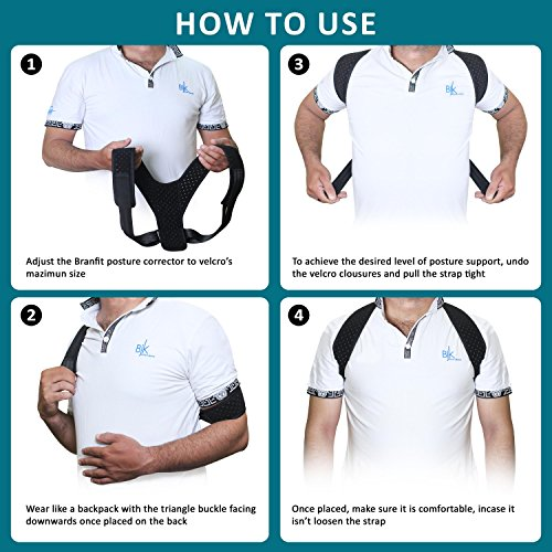 Best Posture Corrector & Back Support Brace for Women and Men by BRANFIT, Figure 8 Clavicle Support Brace is Ideal for Shoulder Support, Upper Back & Neck Pain Relief by Branfit (Image #6)