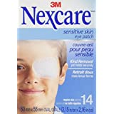 Nexcare Sensitive Skin Eye Patches, Regular Size, 14 Count