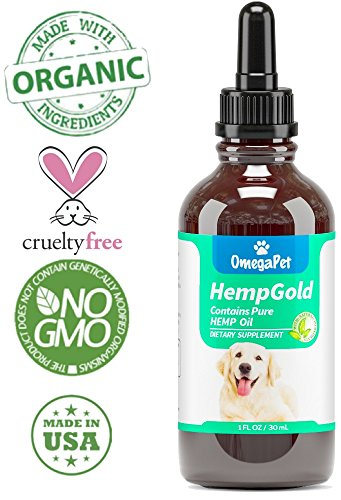 Hemp Oil for Dogs and Cats - Organic Dog Hemp Oil for Anxiety Relief, Calming and Joint Health - Easily Apply to Treats - Grown in USA