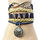 Infinity Love Department Depense Army/Navy/Police/Air Force/Fire/Deputy Wife/Mom/Marines Career Bracelet-18 Styles
