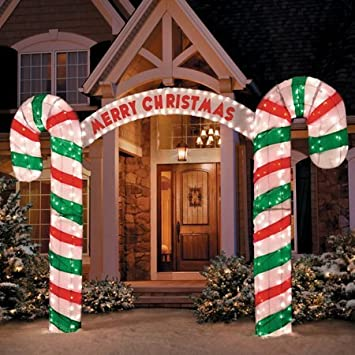 40 Ft Tall 40D Archway Magical Unique Large Candy Cane Arch Way Walk Unique Large Candy Cane Decorations Outdoors