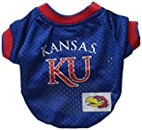 Mirage Pet Products Kansas Jayhawks Jersey for Dogs and Cats, X-Small